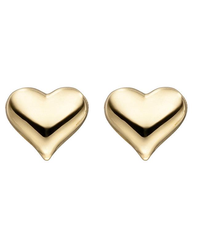 JOBO Golden earstuds hearts 8 carat (333)