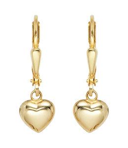 Aurora Patina Gouden oorbellen hartjes