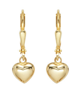 JOBO Golden earrings hearts