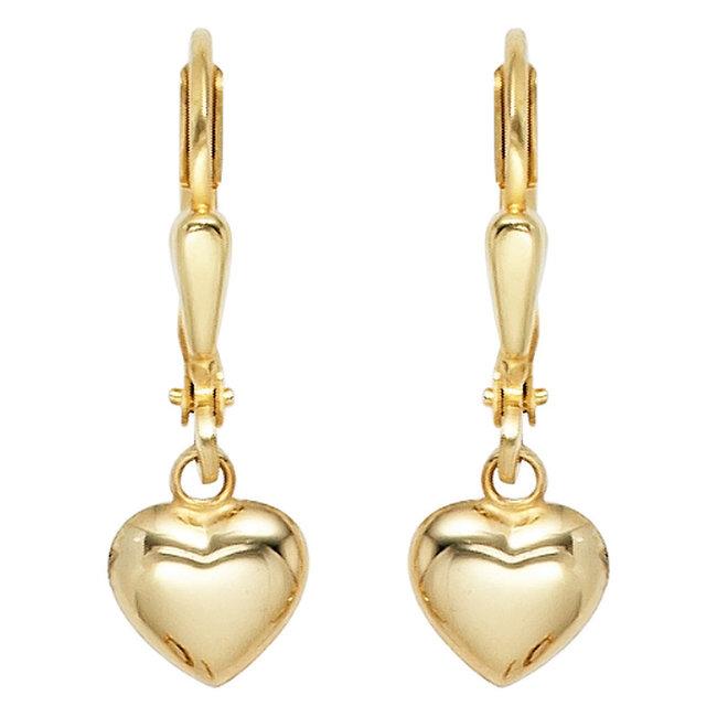 Golden earrings hearts 8 carat (333)