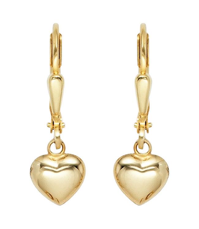 Aurora Patina Gold Ohrringe Herzen 8 karat (333)