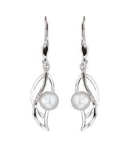 Aurora Patina Weißgoldene Ohrhänger mit Perlen und Brillanten