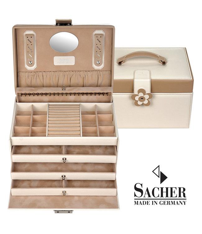 Sacher Jewelry case Jasmin in cream
