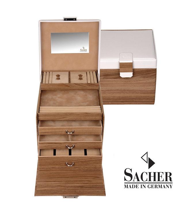 Sacher Jewelry case Lisa Oak wood print