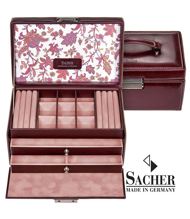 Sacher Jewelry case Elly bordeaux red