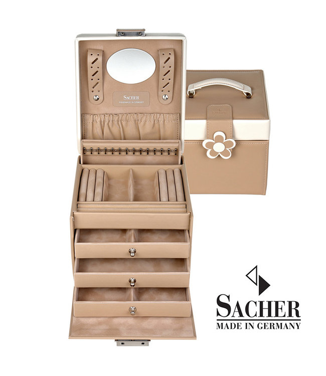 Sacher Jewelry case Erika in beige