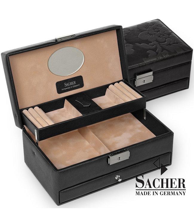 Sacher Jewelry box Hanna black with flowers