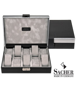 Sacher Watch box Carvon black 10 watches