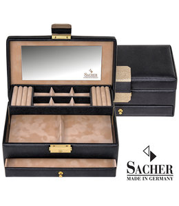 Sacher Jewellery case Helen Black Saffiano