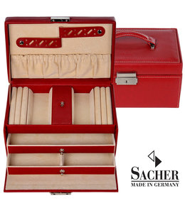 Sacher Jewellery case Eva Red