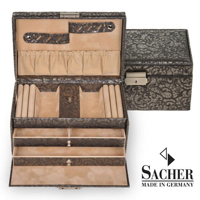 Jewelry box Eva in anthracite vintage