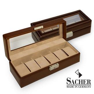 Sacher Watch box brown 6 watches