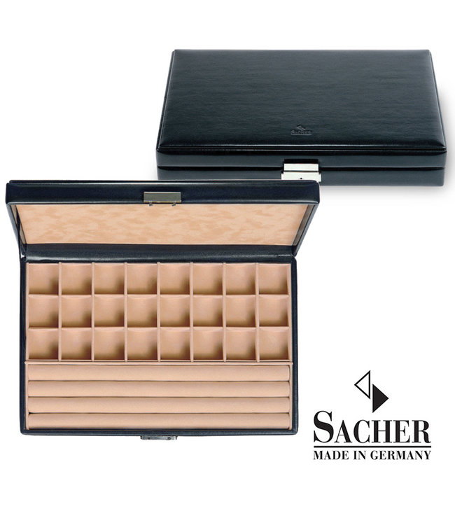 Sacher Watchbox in black imitation leather