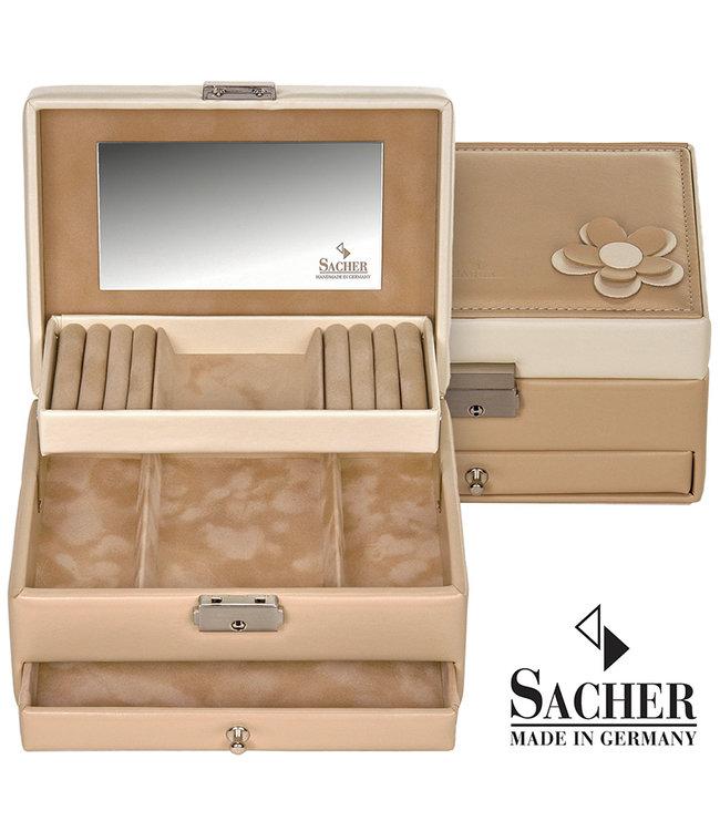 Sacher Jewelry case Carola in beige