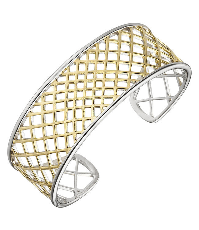 JOBO Open bracelet sterling silver partly gold plated