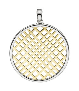 Aurora Patina Round pendant in partly gold plated silver