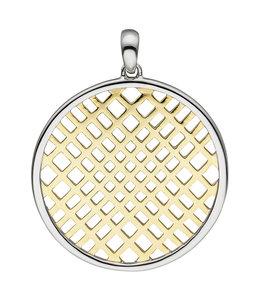 Aurora Patina Runder Anhänger aus teilvergoldetem Silber