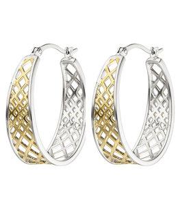 JOBO Creolen Ohrringe aus Sterlingsilber vergoldet