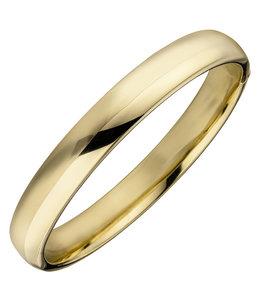 JOBO Oval Silver bracelet gold plated 10 mm wide