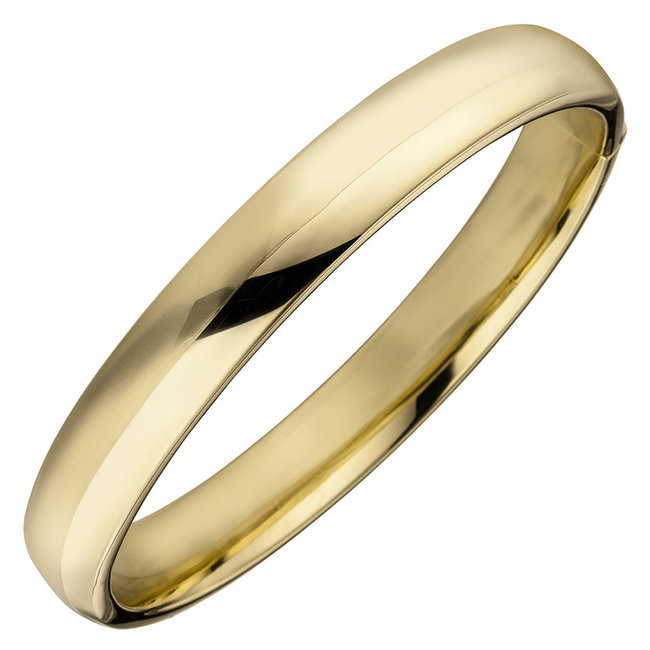 Oval Silver bracelet gold plated 10 mm wide