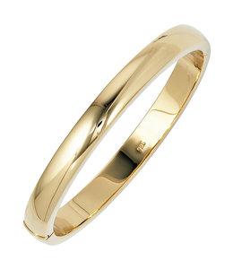 JOBO Oval Silver bracelet gold plated 8 mm wide