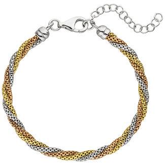 Aurora Patina Silver bracelet in three colours 22 cm