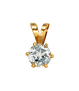 JOBO Gold pendant with aquamarine
