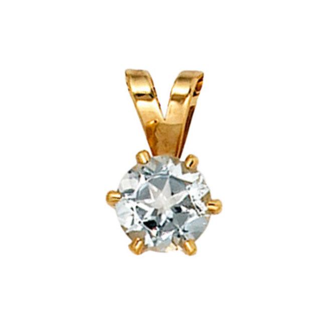 Aurora Patina Gold pendant with aquamarine