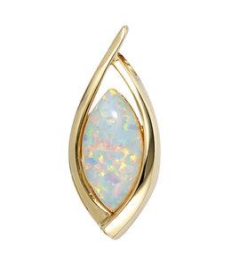 JOBO Ovale gouden kettinghanger opaal