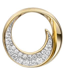 JOBO Golden pendant with zirconia