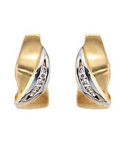 Aurora Patina Earrings creoles 8 ct gold zirconia