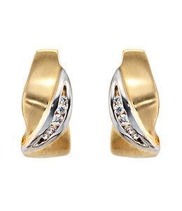 JOBO Earrings creoles 8 ct gold zirconia
