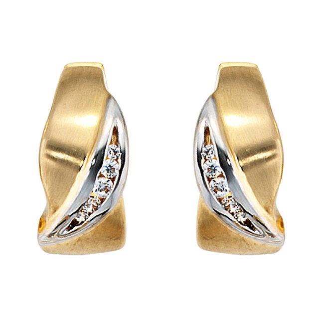 Creoles 8 carat gold with zirconia