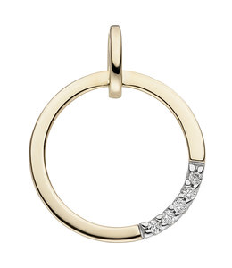 JOBO Gold pendant with brilliant cut diamonds round