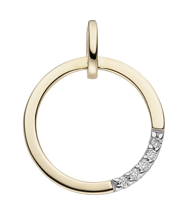 JOBO Golden pendant 14 ct. (585) with brilliant cut diamonds