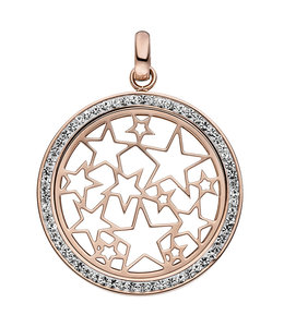 JOBO Stainless steel pendant with crystals