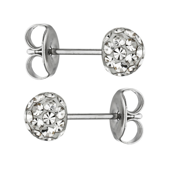 Oorstekers roestvrijstaal met SWAROVSKI® ELEMENTS kristal