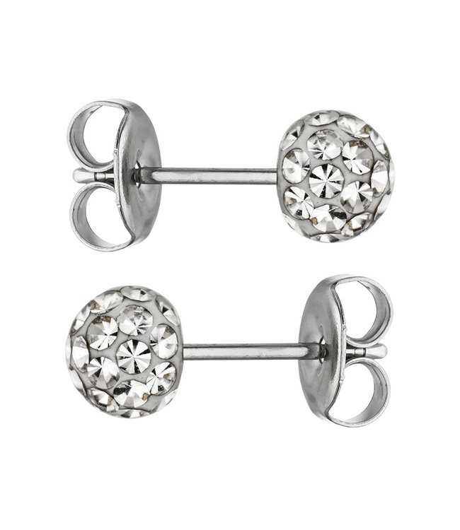 JOBO Stainless steel earstuds with SWAROVSKI® ELEMENTS crystal