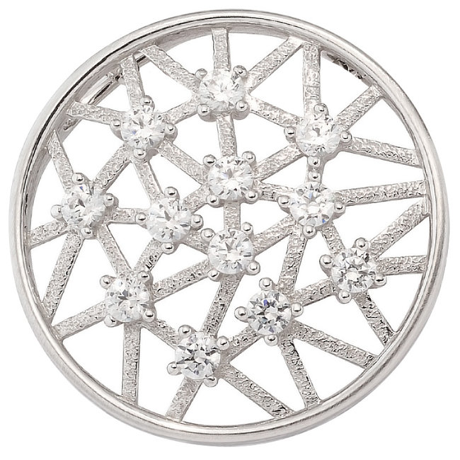 White golden pendant 8 carat (333) with 12 zirconias