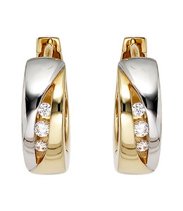 Aurora Patina Earrings creoles 8 ct gold zirconia
