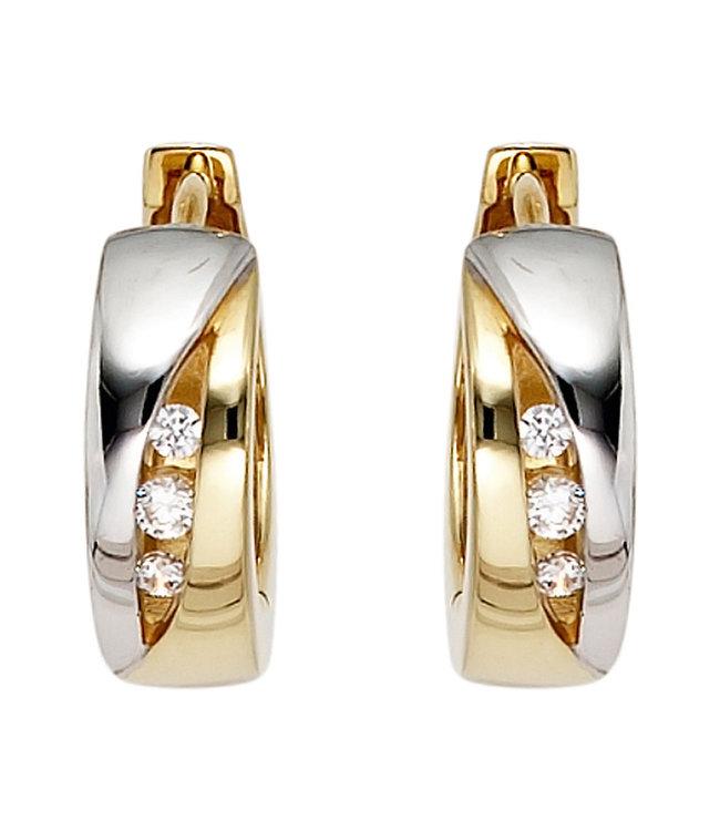JOBO Creoles 8 carat gold with zirconia