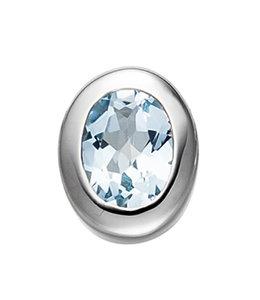 Aurora Patina Silver pendant blue topaz light blue