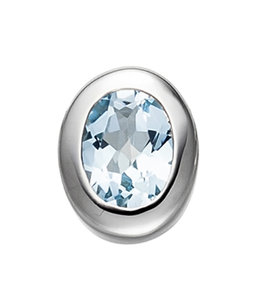 JOBO Silver pendant blue topaz light blue