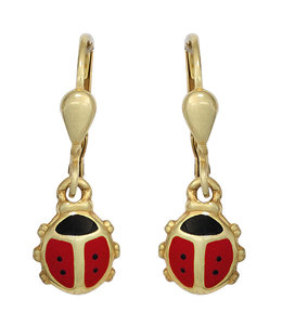 JOBO Kids earrings Ladybugs gold