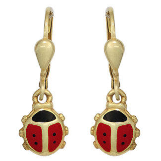 Aurora Patina Kids earrings Ladybugs gold