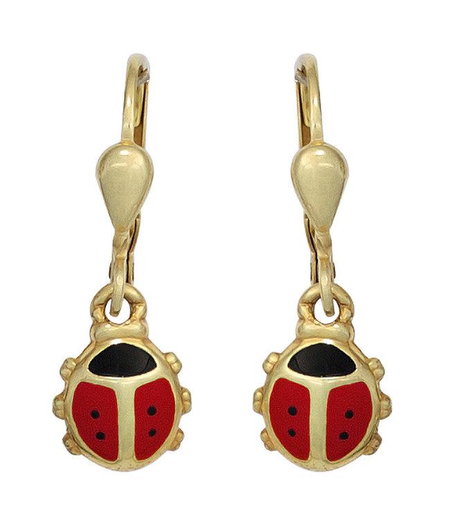 JOBO Kids earrings Ladybugs in 333 gold