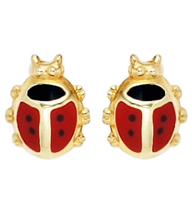 JOBO Kids earring studs Ladybugs 333 Gold