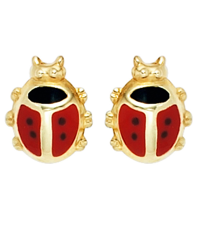 Aurora Patina Kids earring studs Ladybugs 333 Gold