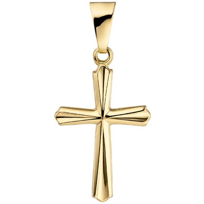 Gold pendant cross 9 carat