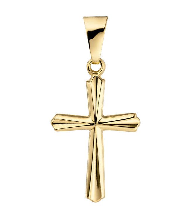 Aurora Patina Gouden hanger kruis 9 karaat